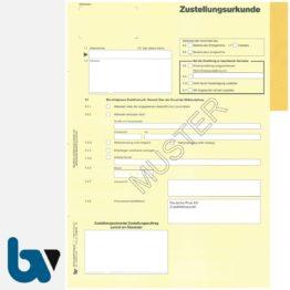 0/100-1N Postzustellungsurkunde - Durchschreibesatz mit anhängendem inneren Umschlag, Rückseite | Borgard Verlag GmbH