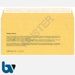 0/101-1 Förmliche Zustellung - Innerer Umschlag, DIN lang, ohne Fenster, haftklebend, Rückseite | Borgard Verlag GmbH