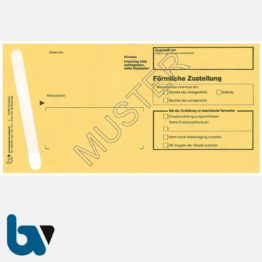 0/101-2a Förmliche Zustellung - Innerer Umschlag DIN lang, mit Fenster, haftklebend, mit Kohlepapier, Durchschreibeverfahren, Vorderseite | Borgard Verlag GmbH