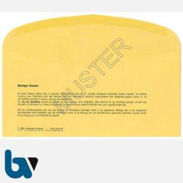 0/101-3.1 Förmliche Zustellung - Innerer Umschlag, DIN lang mit Fenster, nassklebend, gummiert, Rückseite | Borgard Verlag GmbH