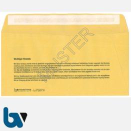 0/101-3 Förmliche Zustellung - Innerer Umschlag, DIN lang, mit Fenster, haftklebend, Rückseite | Borgard Verlag GmbH