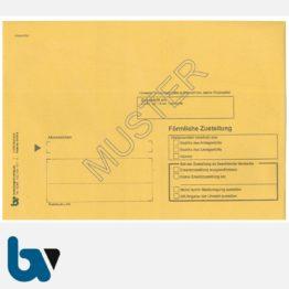 0/101-5-Förmliche Zustellung - Innerer Umschlag, DIN C5, ohne Fenster, nassklebend, Vorderseite | Borgard Verlag GmbH