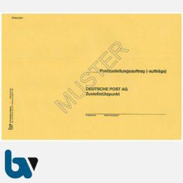 0/102-2 Postzustellungsauftrag - Äußerer Umschlag, DIN B5, ohne Fenster, haftklebend, Vorderseite | Borgard Verlag GmbH
