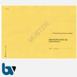 0/102-3 Postzustellungsauftrag - Äußerer Umschlag, DIN B4, ohne Fenster, haftklebend | Borgard Verlag GmbH