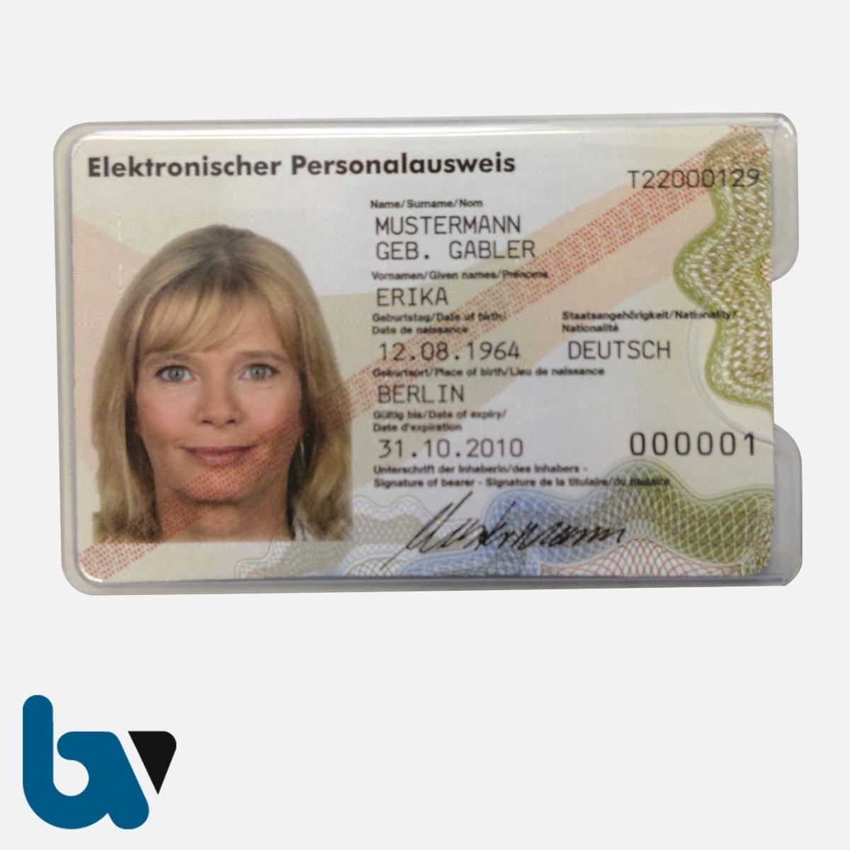 0/519-25.1 Ausweissichthülle Weichfolie neuer Personalausweis eAT | Borgard Verlag GmbH