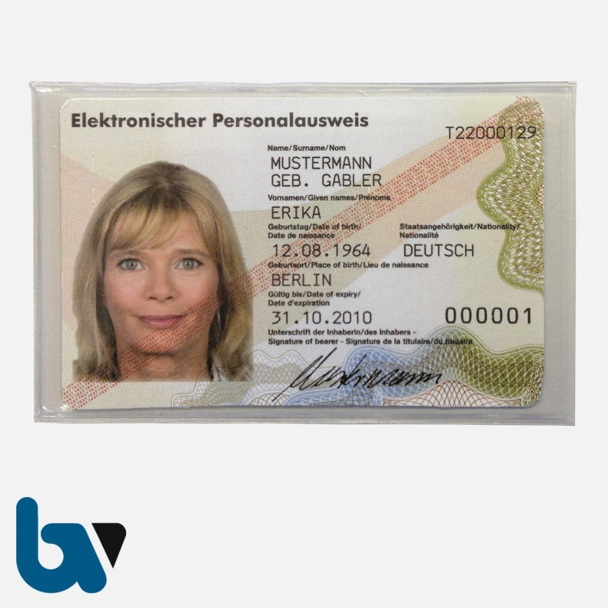 0/519-25 Ausweissichthülle Hart-PVC neuer Personalausweis eAT | Borgard Verlag GmbH