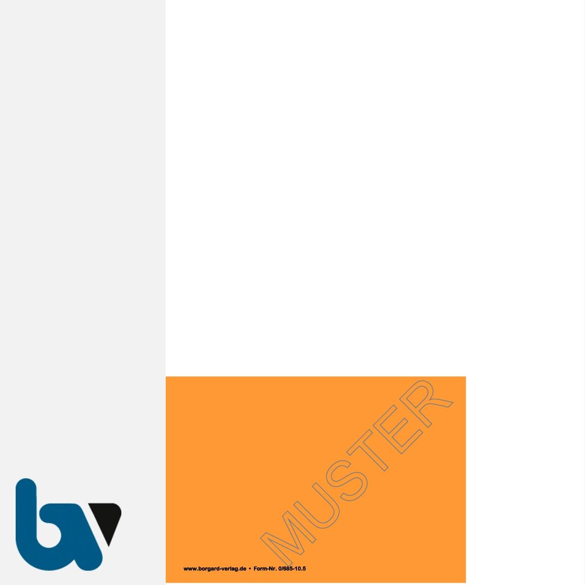 0/685-10.5 Parkausweis zur Ausnahmegenehmigung über Parkerleichterungen BRD orange Modell behinderte Menschen DIN A4 perforiert RS | Borgard Verlag GmbH