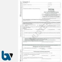 0/685-2 Antrag auf Erteilung einer Ausnahmegenehmigung Parkausweis Parkerleichterungen EU-Modell europaeisch blau behinderte Menschen Durchschreibe DIN A4 2-fach | Borgard Verlag GmbH