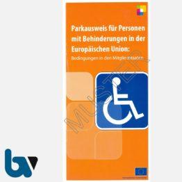 0/685-3 Info-Broschüre zum EU-Parkausweis Parkerleichterungen europäisch blau Modell behinderte Menschen komplett DIN lang Mitgliedstaaten mehrsprachig 1 | Borgard Verlag GmbH