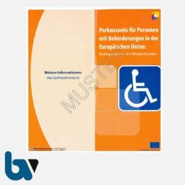 0/685-3 Info Broschüre zum EU-Parkausweis Parkerleichterungen europäisch blau Modell behinderte Menschen komplett DIN lang Mitgliedstaaten mehrsprachig 3 | Borgard Verlag GmbH