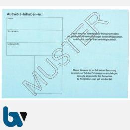 0/685-5 EU-einheitlicher Parkausweis Ausnahmegenehmigung Parkerleichterungen europäisch blau Modell behinderte Menschen stabil DIN A6 RS | Borgard Verlag GmbH