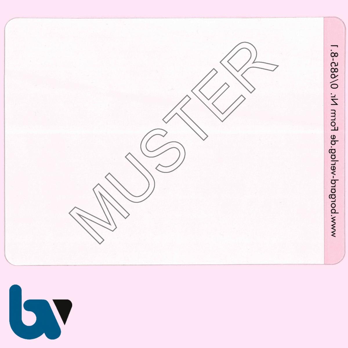 0/685-8.1 Klebefolie zur Plastifizierung Parkausweis DIN A6 RS | Borgard Verlag GmbH