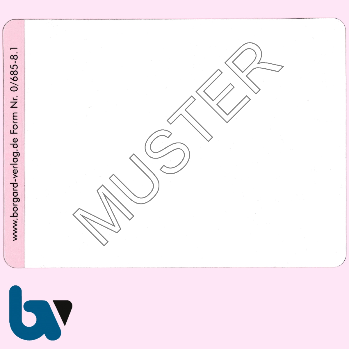 0/685-8.1 Klebefolie zur Plastifizierung Parkausweis DIN A6 VS | Borgard Verlag GmbH