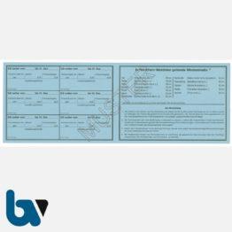 1/456-1 Jahresfischereischein Fünfjahresfischereischein NRW Nordrhein-Westfalen blau Neobond Muster RS | Borgard Verlag GmbH