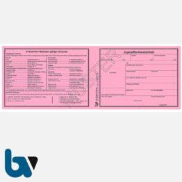 1/456-2 Jugendfischereischein NRW Nordrhein-Westfalen rosa Neobond Muster VS | Borgard Verlag GmbH