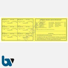 1/456-3 Sonderfischereischein NRW Nordrhein-Westfalen gelb Neobond Muster RS | Borgard Verlag GmbH