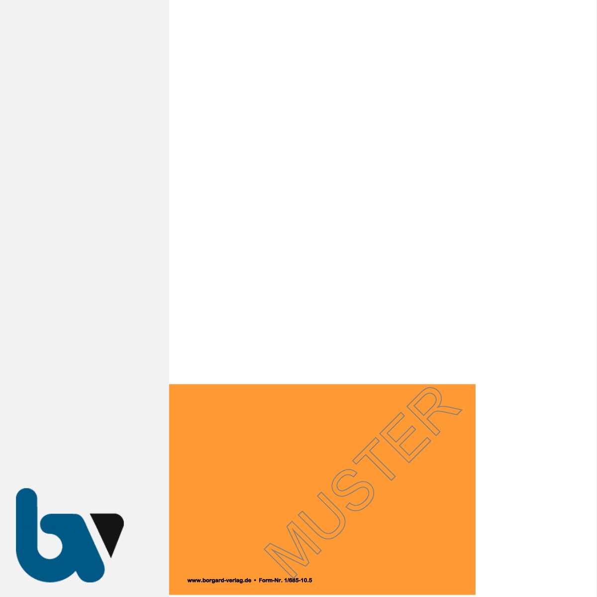 1/685-10.5 Parkausweis zur Ausnahmegenehmigung über Parkerleichterungen NRW orange Modell behinderte Menschen DIN A4 orange perforiert RS   Borgard Verlag GmbH