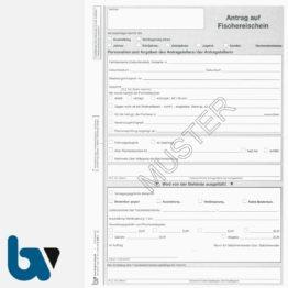 3/455-4 Antrag auf Ausstellung Verlängerung Fischereischein 2fach selbstdurchschreibend | Borgard Verlag GmbH