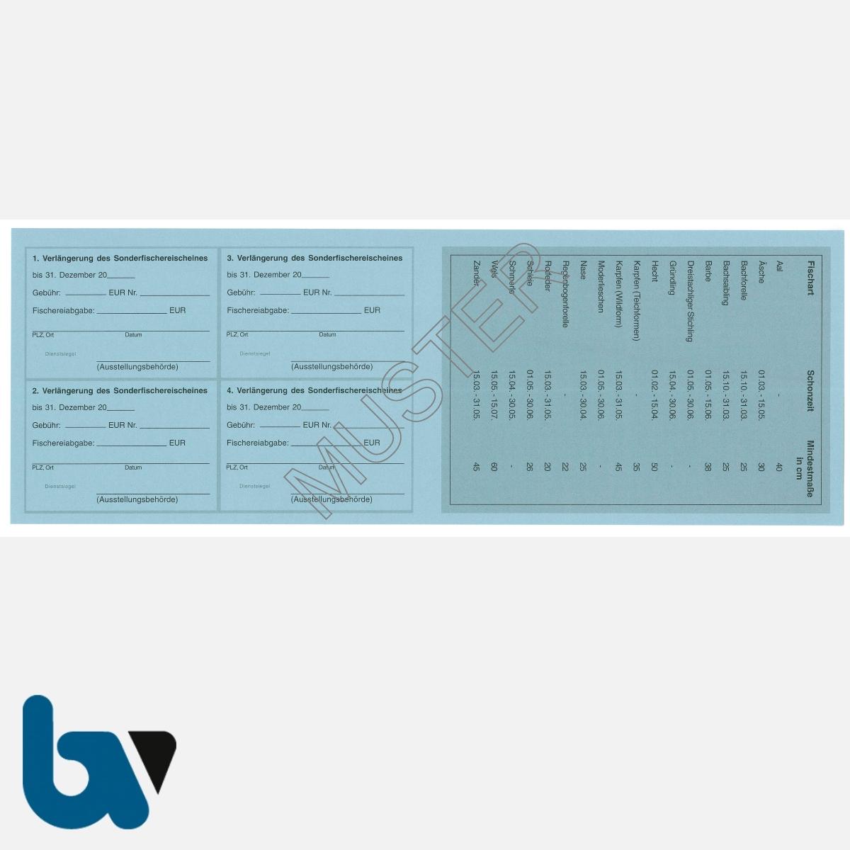 3/456-4 Sonderfischereischein Hessen blau Neobond Muster RS | Borgard Verlag GmbH
