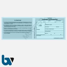 3/456-6 Ausländerfischereischein Hessen blau Neobond Muster VS | Borgard Verlag GmbH