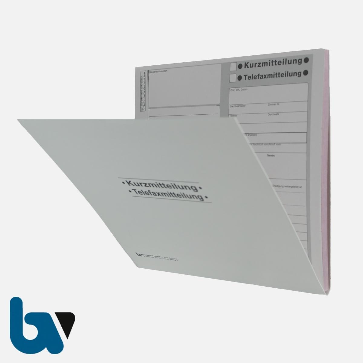 0/095-6 Kurzmitteilung Telefaxmitteilung selbstdurchschreibend Einschlagdeckel DIN 20 21 2-fach VS | Borgard Verlag GmbH