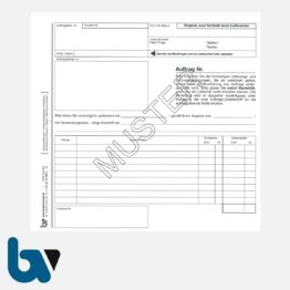 0/122-3 Auftrag Lieferung Zahlungsbedingung Verfügung selbstdurchschreibend Einschlagdeckel DIN 20 21 3-fach Seite 1 | Borgard Verlag GmbH