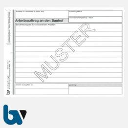 0/122-4 Arbeitsauftrag Bauhof selbstdurchschreibend Einschlagdeckel DIN A5 2-fach Seite 1 | Borgard Verlag GmbH