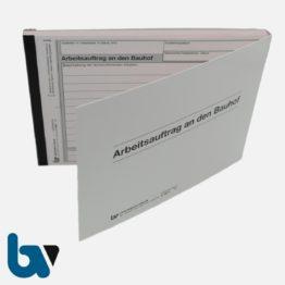0/122-4 Arbeitsauftrag Bauhof selbstdurchschreibend Einschlagdeckel DIN A5 2-fach VS | Borgard Verlag GmbH