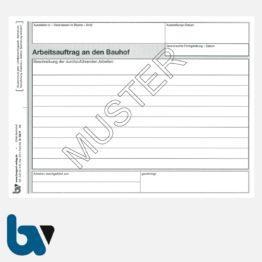 0/122-9 Arbeitsauftrag Bauhof selbstdurchschreibend Einschlagdeckel DIN A5 3-fach Seite 1 | Borgard Verlag GmbH