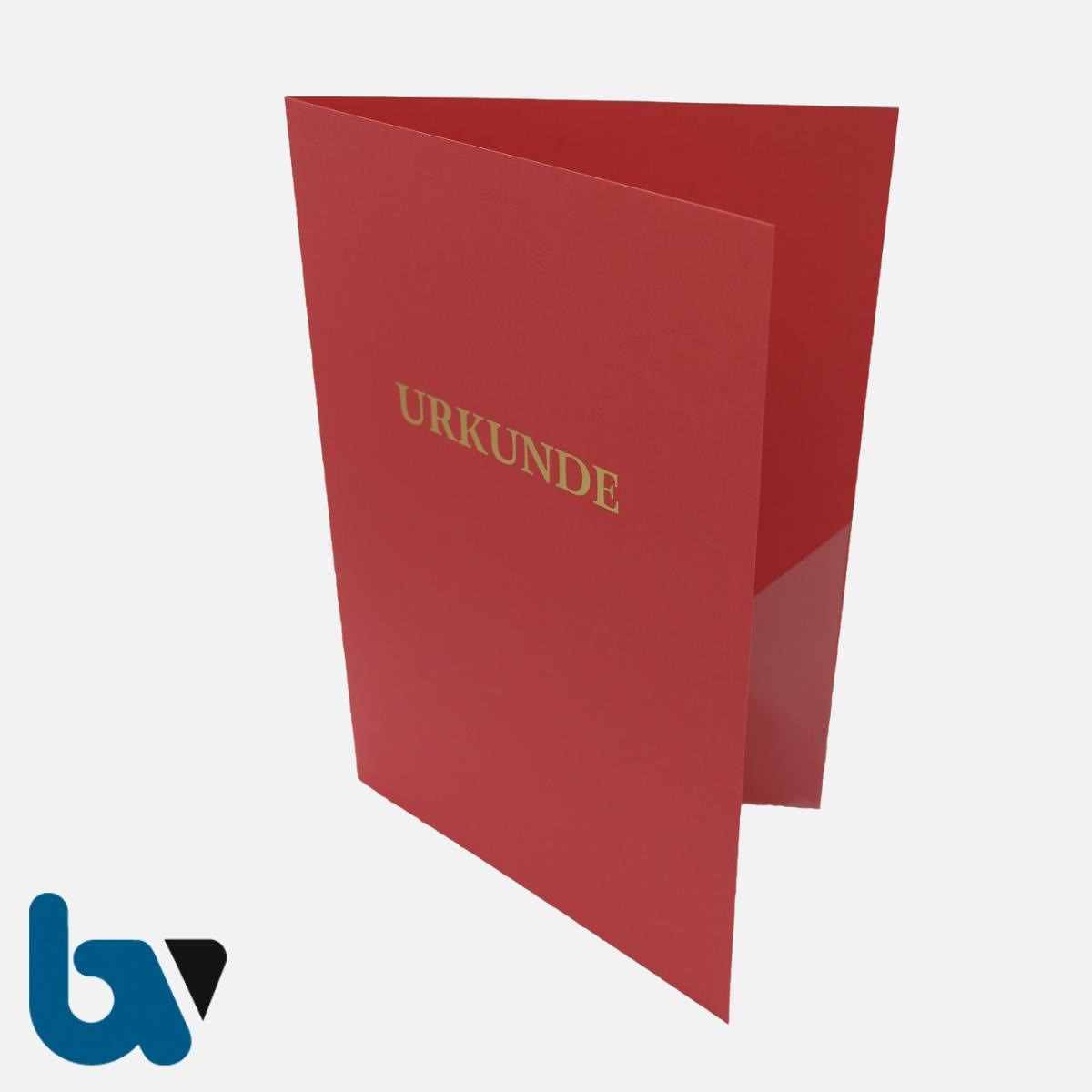 0/134-11 Urkundenhülle rot DIN A4 Dokumente Feuerwehr Goldprägung Einstecktasche Einlege VS | Borgard Verlag GmbH