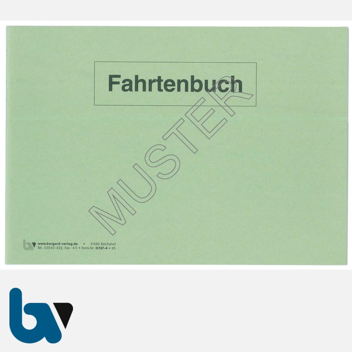 0/137-4 Fahrtenbuch verwaltungseigene Fahrzeug Lkw Kraftrad Dienstreise dienstlich Verwaltung Behörde DIN A5 Seite 1 | Borgard Verlag GmbH