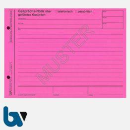 0/160-6 Gesprächs Notiz rot gelocht DIN A5 | Borgard Verlag GmbH