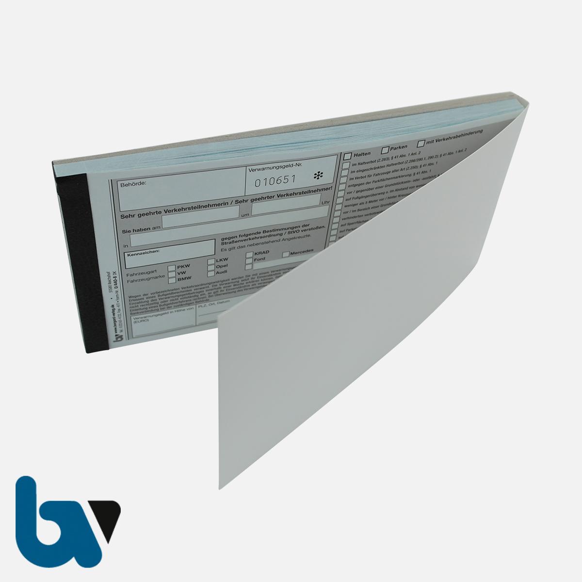0/440-8 Verwarnung Verwarnungsgeldnummer fortlaufend Nummer Tatbestand selbstdurchschreibend Durchschreibeschutz DIN lang VS | Borgard Verlag GmbH