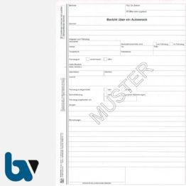 0/442-13 Bericht über Autowrack Fahrzeug DIN A4 selbstdurchschreibend | Borgard Verlag GmbH
