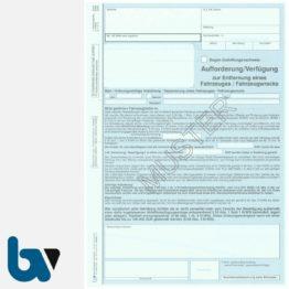 0/442-7 Aufforderung Verfügung Entfernung Fahrzeug Fahrzeugwrack Kreislaufwirtschaftsgesetz KrWG DIN A4 3-fach VS | Borgard Verlag GmbH