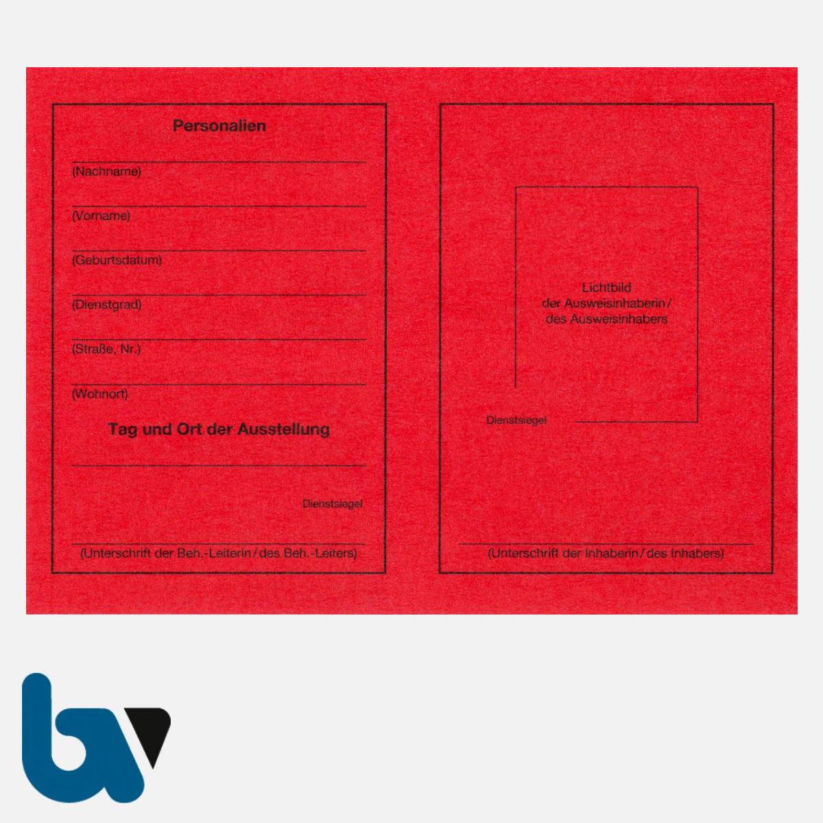 0/461-2 Dienstausweis Feuerwehr rot Neobond DIN A6 RS | Borgard Verlag GmbH