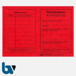 0/461-2 Dienstausweis Feuerwehr rot Neobond DIN A6 VS   Borgard Verlag GmbH