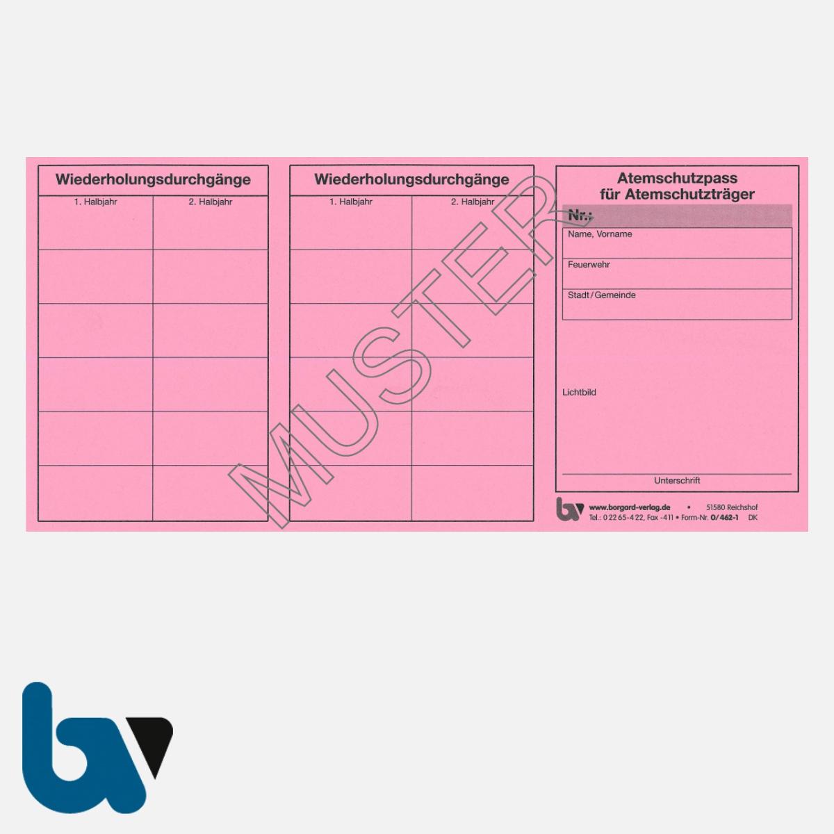 0/462-1 Atemschutzpass Atemschutzträger Feuerwehr rosa Neobond VS | Borgard Verlag GmbH