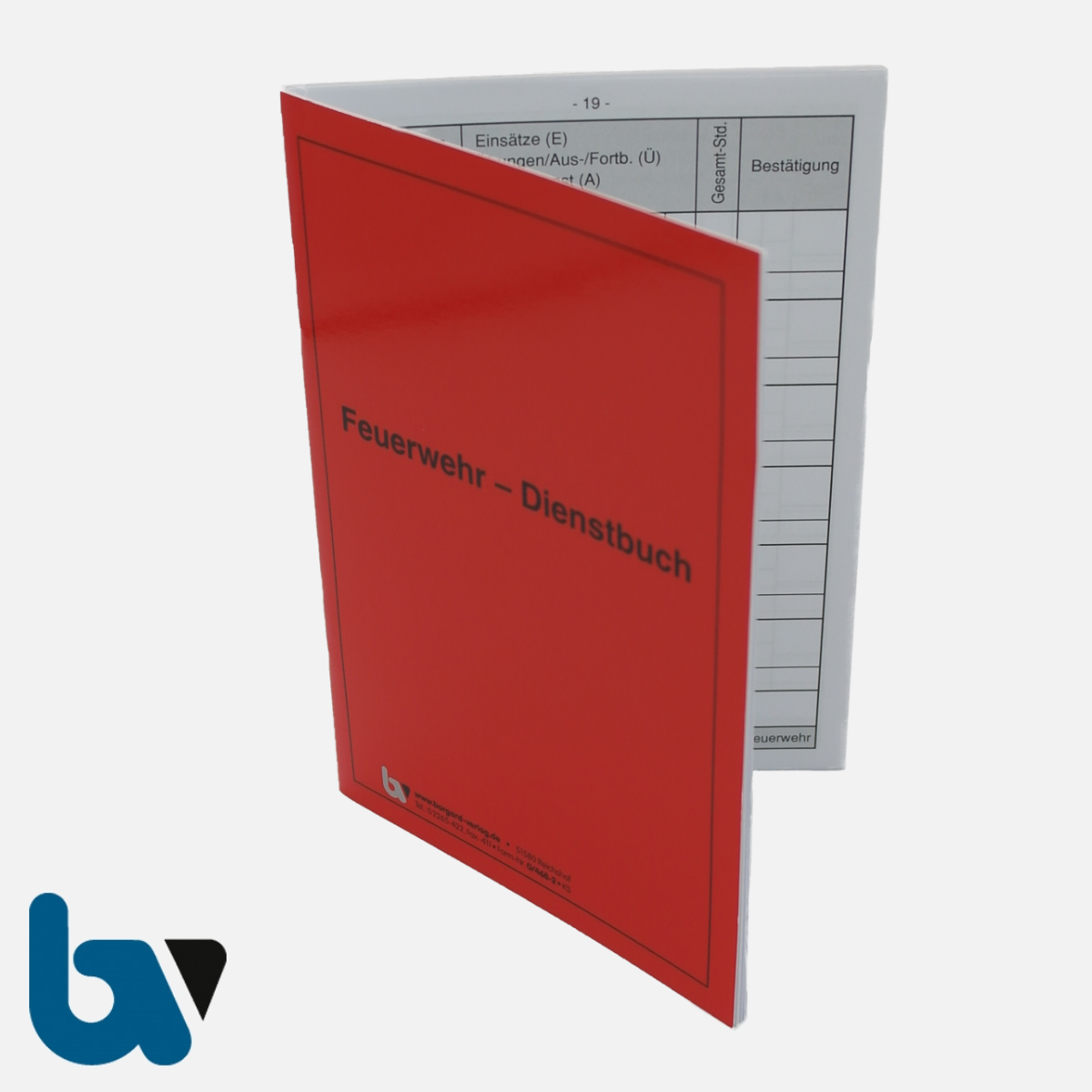 0/468-2 Dienstbuch Freiwillige Feuerwehr Bericht rot Umschlag wetterfest beschichtet 40 Seiten DIN A6 VS   Borgard Verlag GmbH
