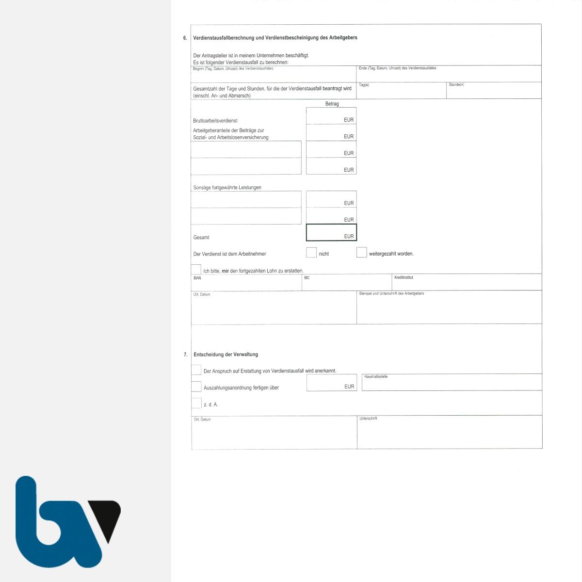 0/469-1 Antrag Erstattung Verdienstausfall Feuerwehr Dienst Berechnung selbstdurchschreibend DIN A4 2-fach RS | Borgard Verlag GmbH