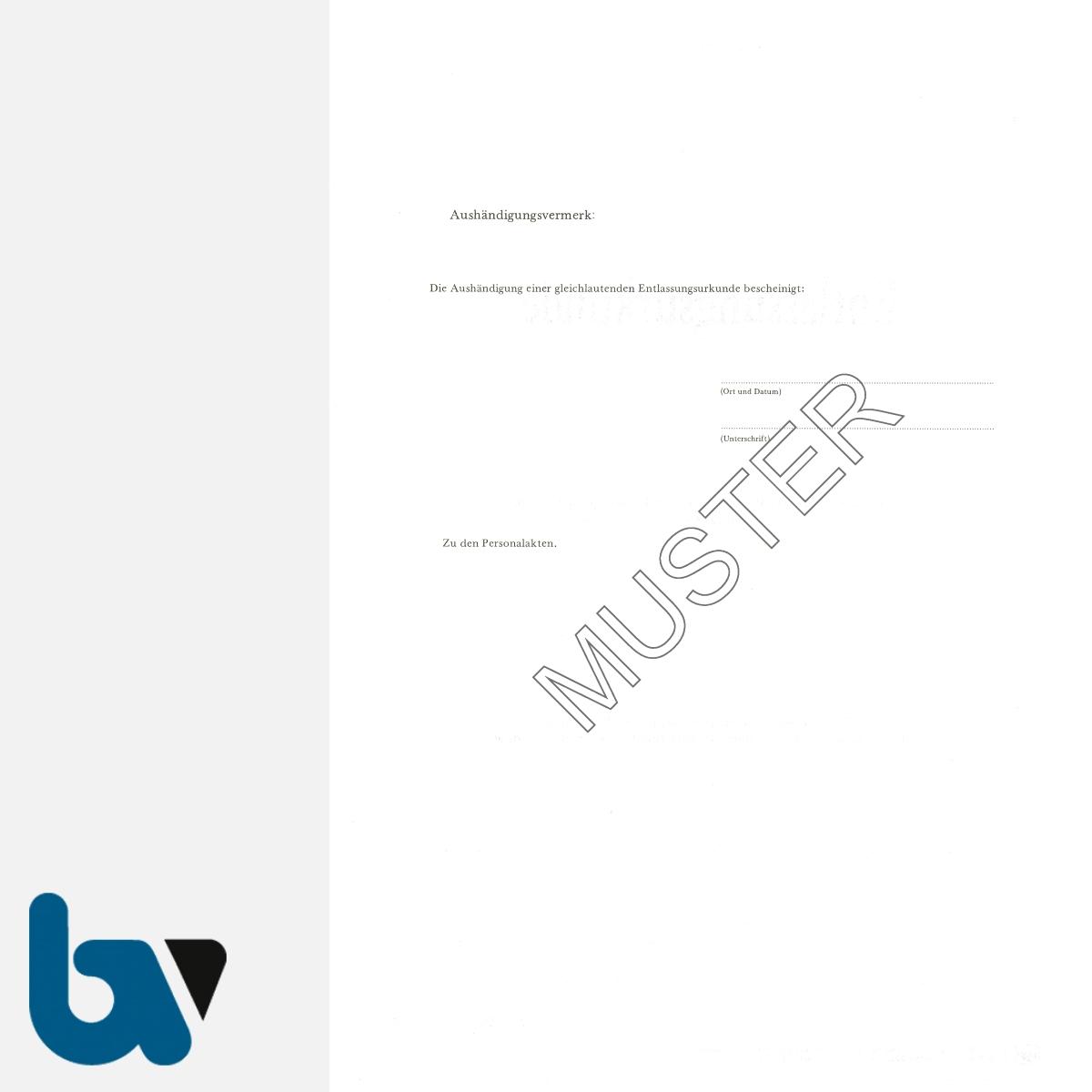 0/486-5 Entlassungsurkunde Feuerwehr Karton Hammerschlag selbstdurchschreibend DIN A4 2-fach RS | Borgard Verlag GmbH