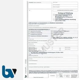 0/497-12 Antrag Erteilung Ausnahmegenehmigung 45 46 Straßenverkehrsordnung StVO Inanspruchnahme öffentliche Verkehrsfläche selbstdurchschreibend DIN A4 2-fach | Borgard Verlag GmbH