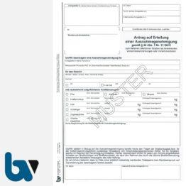 0/497-15 Antrag Erteilung Ausnahmegenehmigung 46 Straßenverkehrsordnung StVO befahren öffentliche Straßen Beschränkung Verbot selbstdurchschreibend DIN A4 2-fach | Borgard Verlag GmbH