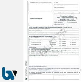 0/497-16 Antrag Erteilung Ausnahmegenehmigung 46 Straßenverkehrsordnung StVO Bewilligung Parkerleichterung Handwerker Handelsvertreter soziale Dienst DIN A4 2-fach | Borgard Verlag GmbH