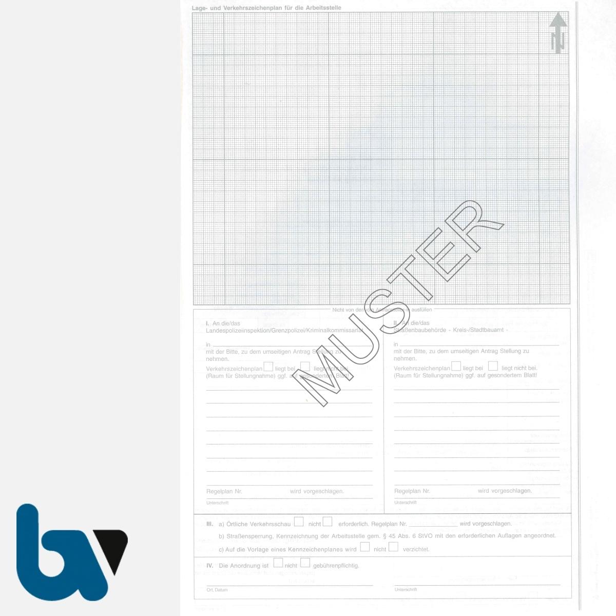0/497-4 Antrag Anordnung verkehrsregelnde Maßnahmen 45 Strassenverkehrsordnung StVO selbstdurchschreibend DIN A4 3-fach RS | Borgard Verlag GmbH