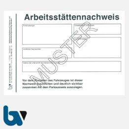 0/498-12.1 Arbeitsstättennachweis DIN A6 | Borgard Verlag GmbH