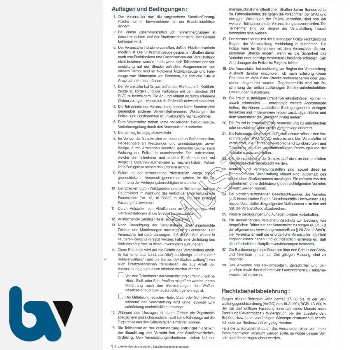0/498-2 Erlaubnis Nutzung Umzug Umzüge Überschreitung öffentlich Verkehrsfläche 29 44 Straßenverkehrsordnung StVO selbstdurchschreibend DIN A4 4-fach RS | Borgard Verlag GmbH