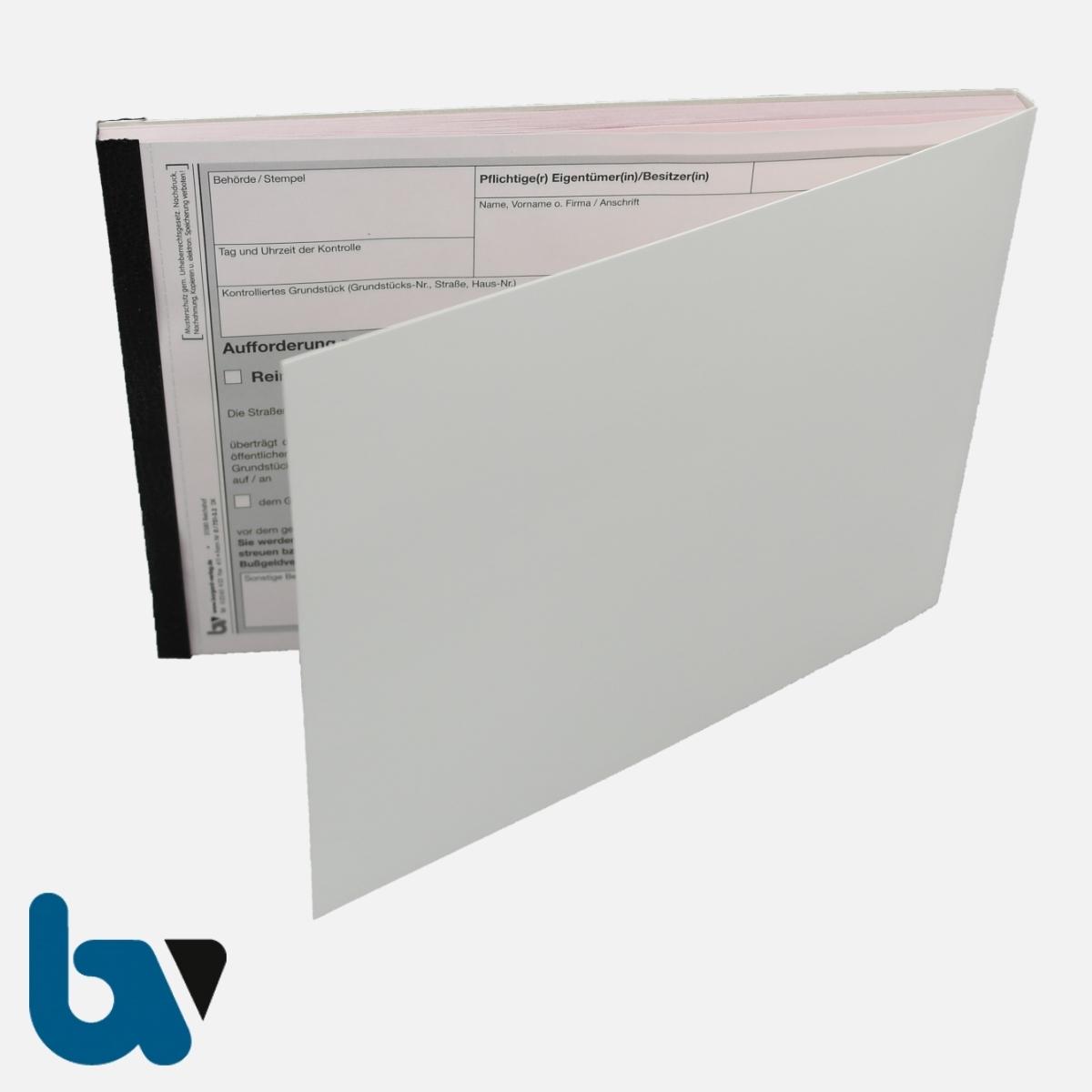 0/751-3.2 Aufforderung Erfüllung Reinigungspflicht Räumpflicht Rückschnittpflicht Gehweg Fahrbahn selbstdurchschreibend DIN A5 2fach VS | Borgard Verlag GmbH