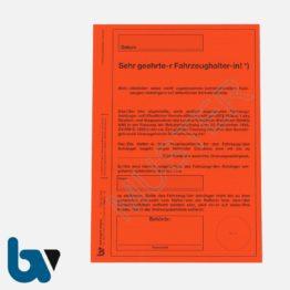 1/442-6 Aufkleber Aufforderung Entfernung Fahrzeug Anhänger selbstklebend Nordrhein-Westfalen Straßen Wegegesetz Aufnahmeprotokoll Abfall DIN A5 VS | Borgard Verlag GmbH