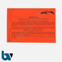 2/442-3 Aufkleber Aufforderung Entfernung Fahrzeug Anhänger selbstklebend Rheinland-Pfalz Landesstraßengesetz Aufnahmeprotokoll Abfall DIN A5 VS | Borgard Verlag GmbH